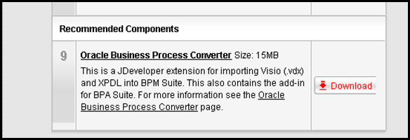 Importing a BPMN Visio Diagram as a BPM Process in Oracle