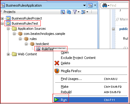 Testing Oracle Business Rules using Java | Oracle Technologies Primer